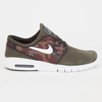 Nike Sb Stefan Janoski Max Suede Mens Shoes Forest  In Sizes