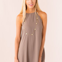 Daphne Dress in Brown