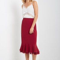 Mari Mermaid Midi Skirt