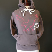 American Eagle Outfitters Brown Hoodie - XS