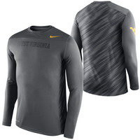 West Virginia Mountaineers Nike Speed Long Sleeve Performance T-Shirt – Anthracite