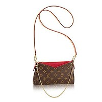 Louis Vuitton Monogram Canvas Pallas Clutch Handbag Cherry Article: M41638
