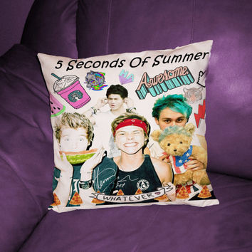 """5 Seconds of Summer pillow case cover (16""""x16"""") (16""""x24"""") (18""""x18"""") (20""""x20"""") (20""""x30"""") one side or two side"""