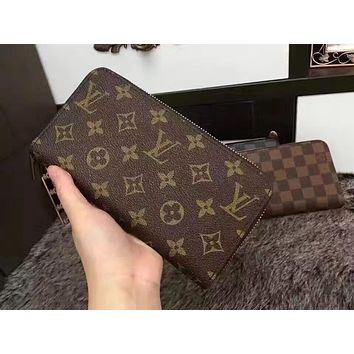 LV Louis Vuitton MONOGRAM CANVAS ZIPPER WALLET