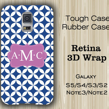 Seamless Blue Pattern Monogram Samsung Galaxy S5/S4/S3/Note 3/Note 2 Case
