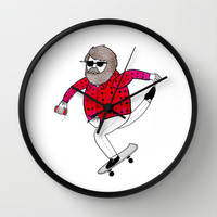 On how to overcome certain obstacles while skateboarding Wall Clock by Michael C. Hsiung
