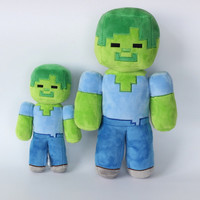 Minecraft Zombie Plush Dolls Toys My World Stuffed Animals Baby Toy 20/30 cm Soft Plush Christmas Gifts