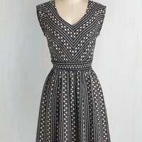 Mid-length Sleeveless Fit & Flare Daisy Chain of Events Dress