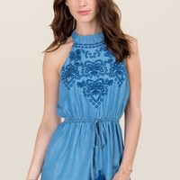 Tess Embroidered Romper