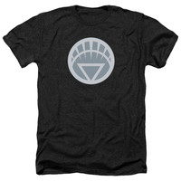 GREEN LANTERN/WHITE SYMBOL-ADULT HEATHER-BLACK