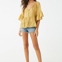 Tiered Butterfly Sleeve Top