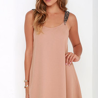 Tribute to Perfection Blush Beaded Dress