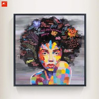 Canvas Wall Art: Abstract African Women with Graffiti Wall Art on Canvas