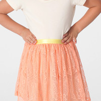 American Apparel - Kids Lace Mid-Length Skirt