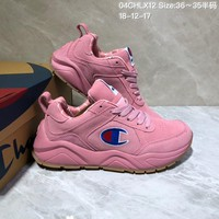 KUYOU C029 Champion x Casbia Awol Atlanta Leather Sneaker Ratro Casual Running Shoes Pink