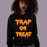 Trap Or Treat Halloween Sweatshirt