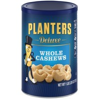 Planters Deluxe Whole Cashews 18.25 oz. Canister - Walmart.com