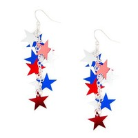 Stars and Stripes Star Drop Earrings | Claire's