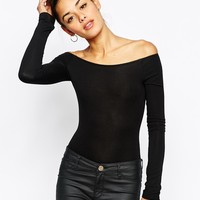 ASOS Body with Bardot Neckline and Long Sleeves