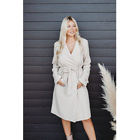 Know It All Trench Coat (Beige)
