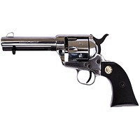 Old West 1873 9mm Nickel Finish Fast Draw Blank Firing Revolver