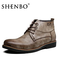 New Arrival Printing Men Boots,  Men Ankle Boots, Casual Men Autumn Boots