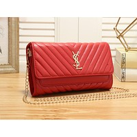YSL sells stylish casual lady's single-shoulder bag with zigzag line in solid color #1