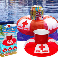 INFLATABLE DRINK GUARD RAFTS
