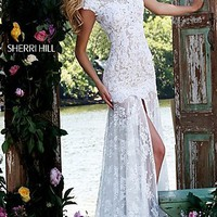 Floor Length Lace Prom Dress by Sherri Hill
