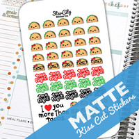 Taco Stickers, Taco Night Planner, Planner Stickers kit, Planner sticker set, Taco stickers, Dinner stickers, Gift for Taco Lover