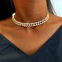 12mm Miami Cuban Link Chain Gold Silver Color Choker