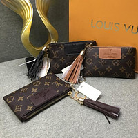 Louis Vuitton LV Fashion Leather Tote Clutch Bag Purse