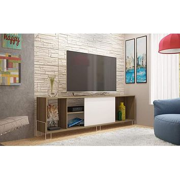 Eye- catching Nacka TV Stand 1.0 with 4 Shelves and 1 Sliding Door