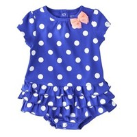 Just One You™Made by Carter's® Newborn Girls' Jumpsuit - Blue/White/Yellow