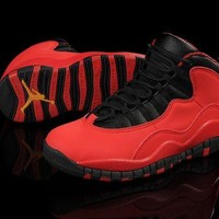 DCCK Air Jordan 10 GS Fusion Red Women Men Basketball Shoes Size US 5.5-13