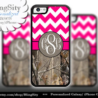 Monogram iPhone 5C 6 6 Plus Case iPhone 5s  iPhone 4 case Ipod 4 5 Touch case Real Tree Camo Hot Pink Fat Chevron Zig Zag  Personalized