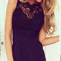 HOT BACKLESS LACE ROMPER