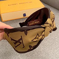 LV Louis Vuitton New fashion monogram print headband women