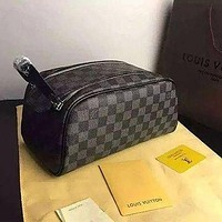 LV Louis Vuitton Classic Hot Sale Women Makeup Bag Cosmetic Bag Double Zipper Purse Wallet Handbag Bag