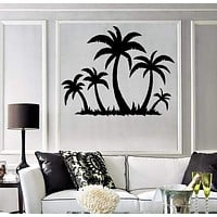 Wall Sticker Vinyl Decal Tropical Palm Tree Beach Relax Decor Unique Gift (ig1769)