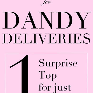 Last Chance Dandy Delivery - One Top for $12.95