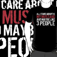 HIlarious 'All I Care About Is My Mustang And Maybe Like 3 People' Accessories