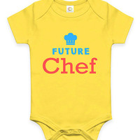 Cute Future Chef Baby Clothes Infant Bodysuit Jumper Baby Shower Gift idea Funny New Mom Christmas Pregnant Gift for Foodie Cook Chef Hat