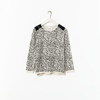 PRINTED SWEATER WITH SHOULDER DETAIL - Cardigans and sweaters - Girl (2 - 14 years) - Kids | ZARA United States