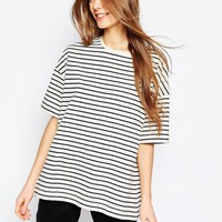 ASOS Oversized Stripe Top at asos.com