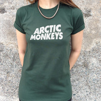 Arctic Monkeys T-shirt Top Cool Hipster TUMBLR AM Fashion Band Indie Rock