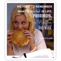 Leslie Knope on Waffles by lights and glowsticks