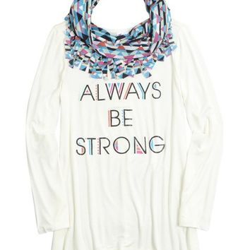 LONG TEE SCARF 2FER   GIRLS LEGGINGS CLOTHES   SHOP JUSTICE