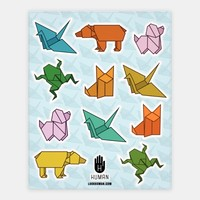 Origami Animal Stickers | Stickers, Sticker Sheets and Vinyl Stickers | HUMAN