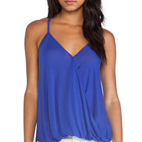 LA Made Hi Lo Wrap Top in Royal